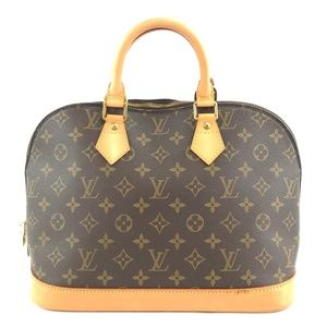 Alma Brown Monogram Canvas Satchel
